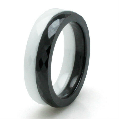 Ceramic Faceted Stackable Ring 3MM