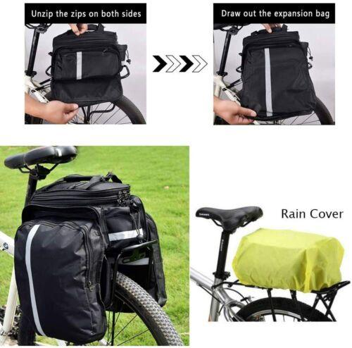 DOUBLE BICYCLE CYCLE PANNIER BAG REAR BIKE RACK CARRIER WATER RESISTANT