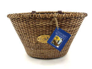 NANTUCKET LIGHTSHIP CLASSIC SHAPE STAINED FRONT BICYCLE BASKET
