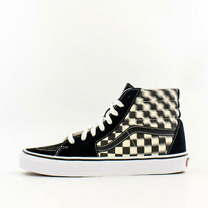 black and white checkered vans size 6