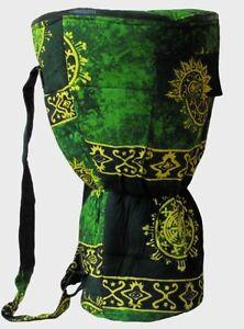 Image Is Loading Djembe Bag 26x15 5 Green Celestial Design Padded