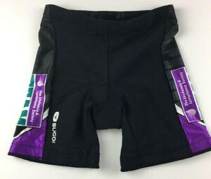 Sugoi-Women-039-s-Cycling-Shorts-Size-Small-Leukemia-and-Lymphoma-Team-Shorts-Black