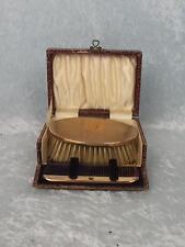 1927 Gentlemans Cased 9ct Gold Brush & Comb Set