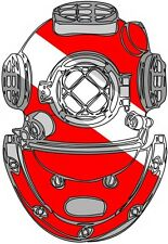 SCUBA DIVING DIVER HELMET BUMPER STICKER TOOLBOX STICKER LUNCH BOX