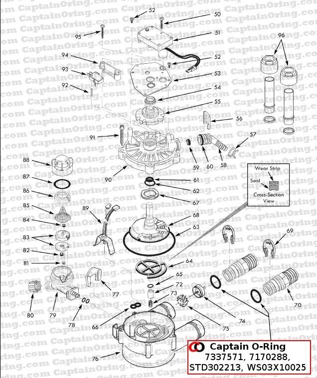 Buy Water Softener O Ring Seal Kit 4 Pack Part 7337571 7170288