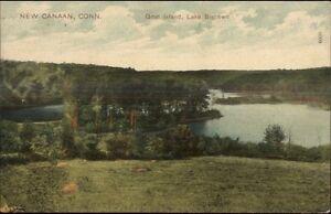 New-Canaan-CT-Goat-Island-c1910-Postcard