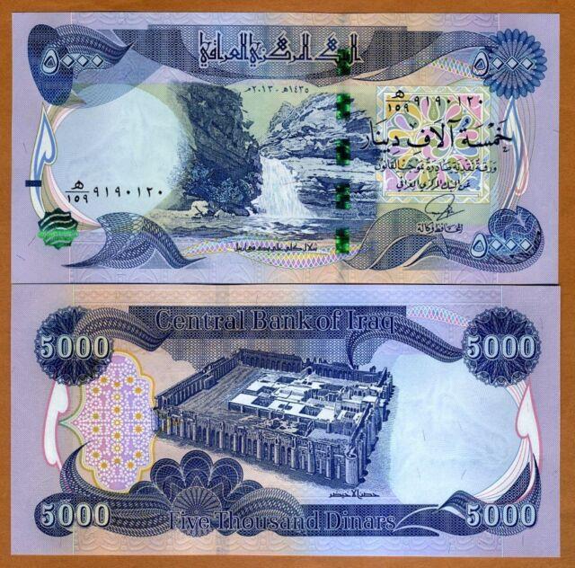 Iran 5000 Dinars 5 Kran 1916 For
