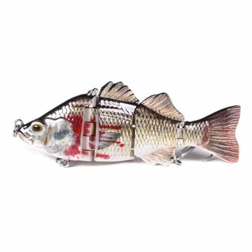 10cm//22g 4-Segment Jointed Fishing Lure Swimbait Hard Bait Tackle Wobbler Bass
