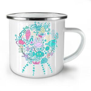 Sea Life Fish Cute NEW Enamel Tea Mug 10 oz   Wellcoda