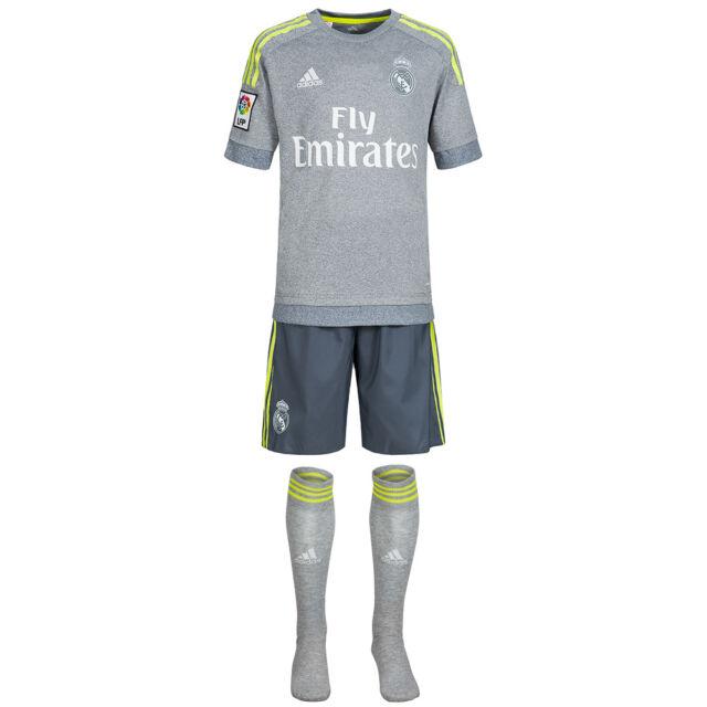Real Madrid adidas Auswärts Trikot Set Mini Kit Jersey Shorts Stutzen S12624 neu