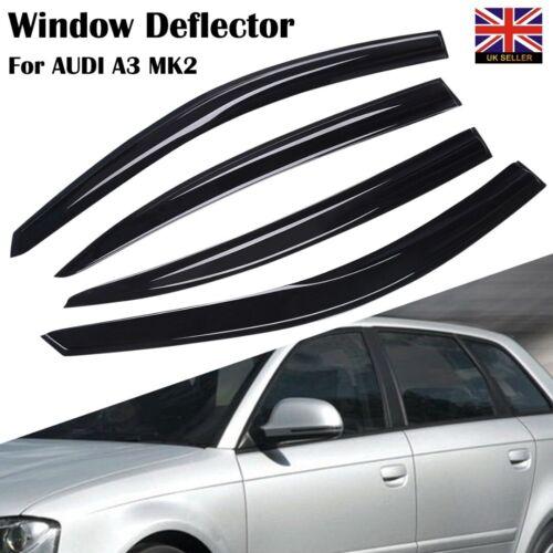 For AUDI A3 MK2 5-door 2004-2012 Sportback Hatchback Wind Deflectors 4pc New