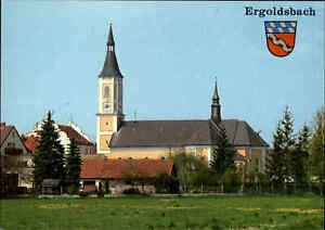 Kirchen Bauwerk Motiv-AK Kirche in Ergoldsbach Bayern Ansichtskarte ungelaufen