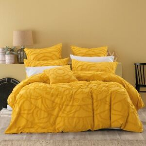 Bianca-Kelsey-100-Cotton-Chenille-Quilt-Cover-Set-Mustard