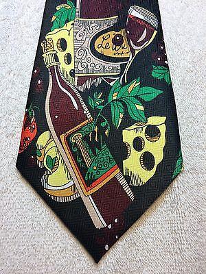 Appena A Rogers Cravatta Uomo 4 X 58 Vino E Formaggio Festa, Nuovo Con Etichette