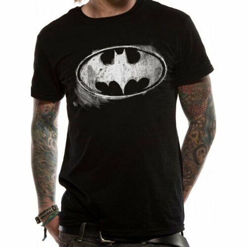 OFFICIAL BATMAN DC COMICS DISTRESSED LOGO BLACK MENS T SHIRT TEE TSHIRT T-SHIRT