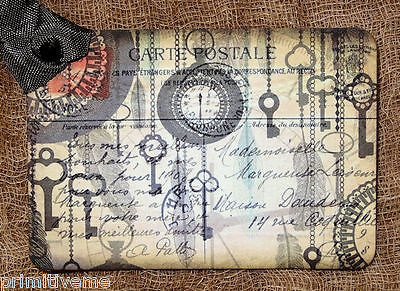 Hang Tags  FRENCH SKELETON KEY POSTCARD TAGS or MAGNET #678  Gift Tags