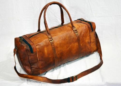 Men Travel Weekend Bagages cuir Nuit Sac véritable en Duffel Vintage Gym IWD2EYH9