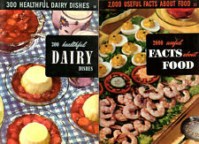 TWO Culinary Arts Institute Cookbooks Dairy & Facts about Food