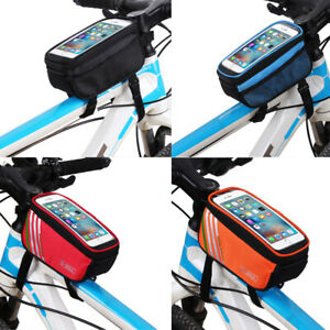 B-Soul-Marco-De-La-Bicicleta-Bicicleta-Bolsa-de-Tubo-Frontal-Pantalla-Tactil-bolsas-de-telefono