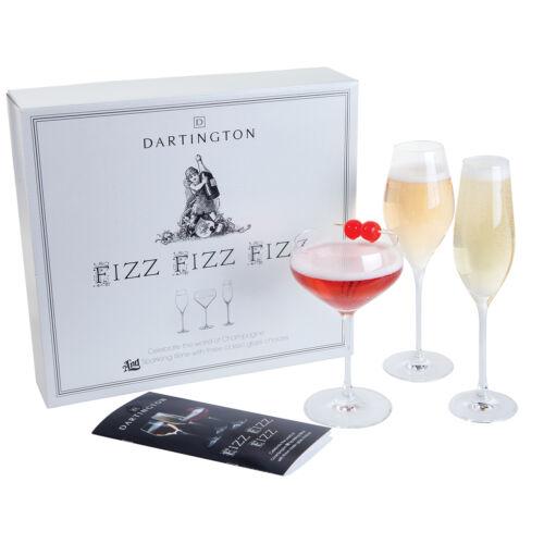 Dartington Crystal Fizz Fizz Fizz Three Pack Champagne Glass Set in Gift Box