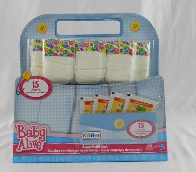 New Baby Alive Doll Food And Diapers Super Refill Pack 30 Pieces Toys R Us Excl