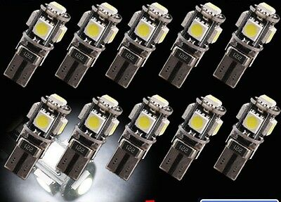 10 pcs Malibu Landscape Replacement LED Light T10 194 w5w Wedge pure White12V DC