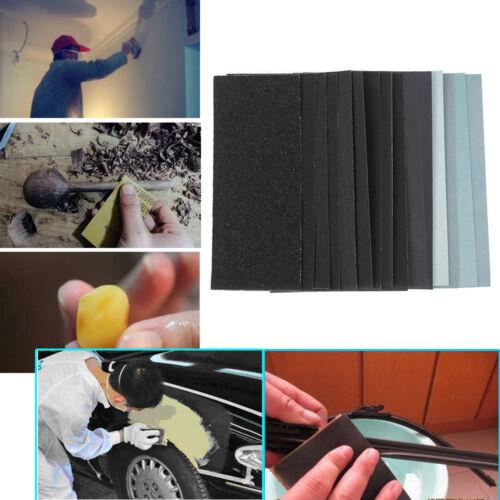 2//10Pcs Wet and Dry Sandpaper Sanded Grit 150-8000 Polished Wood Metal Supply