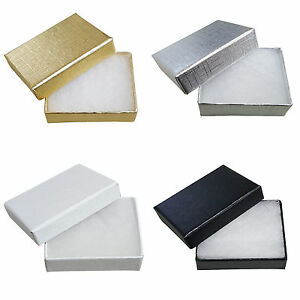 Cardboard Jewellery Gift Box Wedding Favour Cotton Cushion Foil