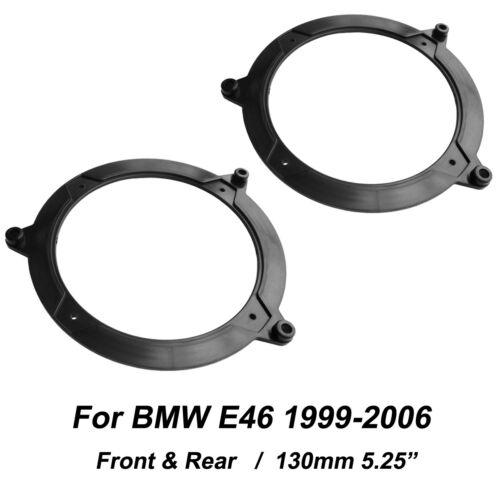Speaker Adapter for BMW E46 130MM 5.25 FRONT&REAR Door Adaptors Kit Rings Plate