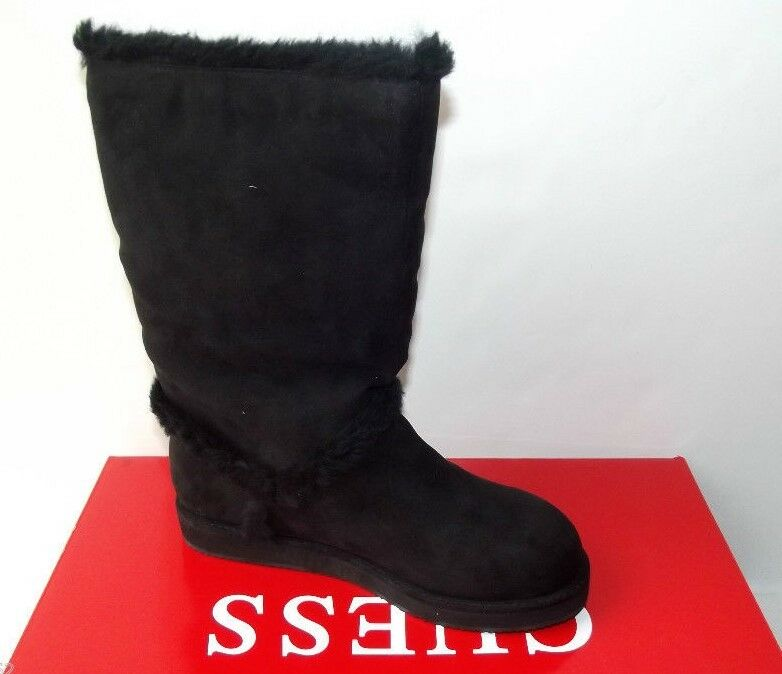 GUESS GF HELENA  FAUX SUEDE LEATHER SHERPA LINED Stiefel NEW MID CALF 8  NEW Stiefel IN BOX 988460