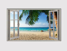 208 X LARGE CANVAS 18''x 32'' WALL WINDOW BEACH OCEAN ROCK SAND PRINT PICTURE