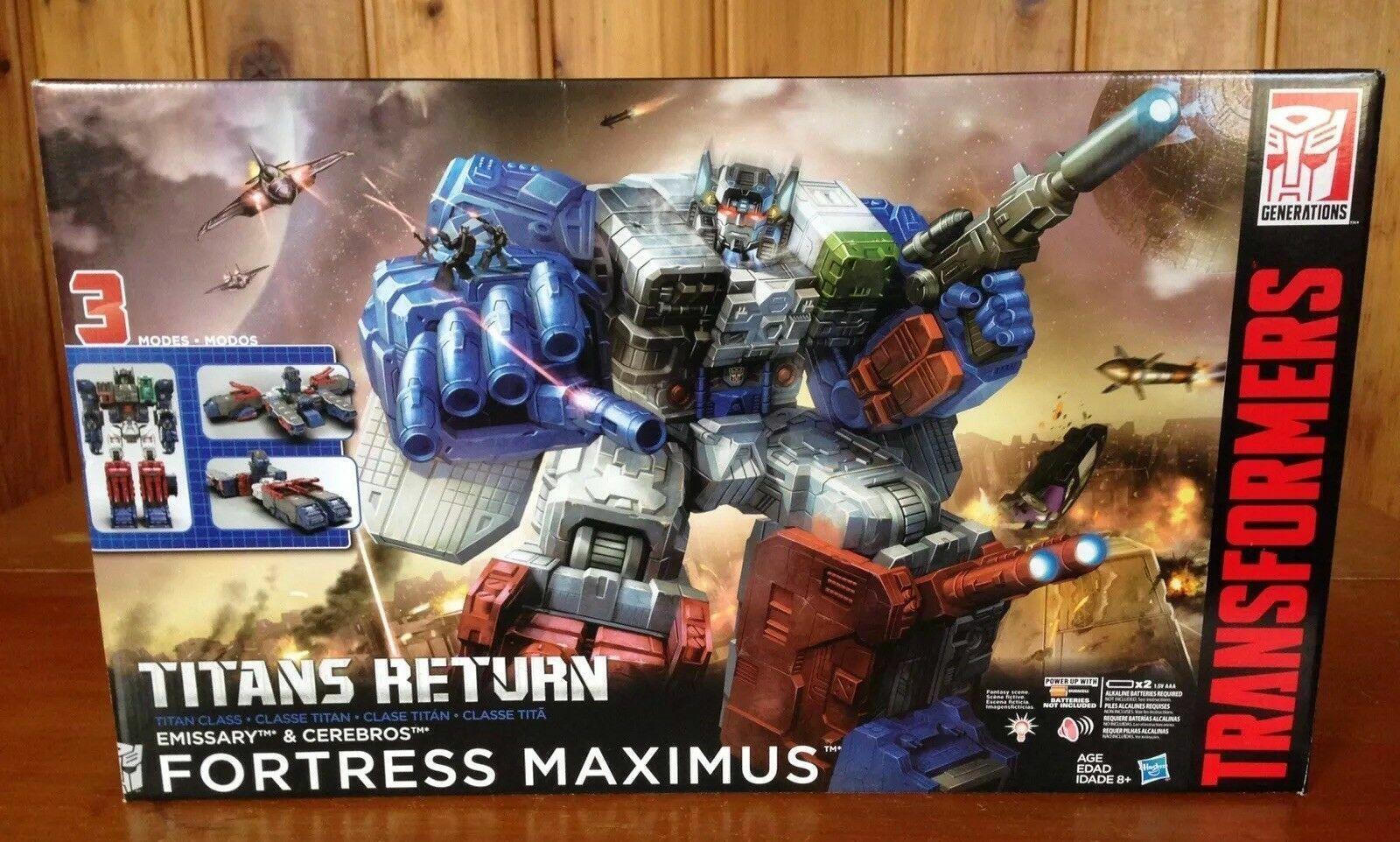 NEW Transformers Titans Return Titan Class Fortress Maximus, Emissary, Cerebros