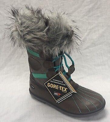 BNIB Clarks Fab Jump GTX Girls Grey Leather Gore-Tex Boots F & G Fitting