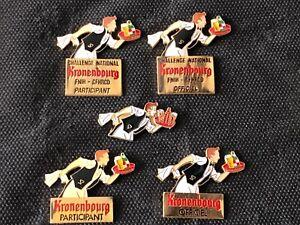 """""""c"""" 5 pins pin enamel BIERE BEER KRONENBOURG"""