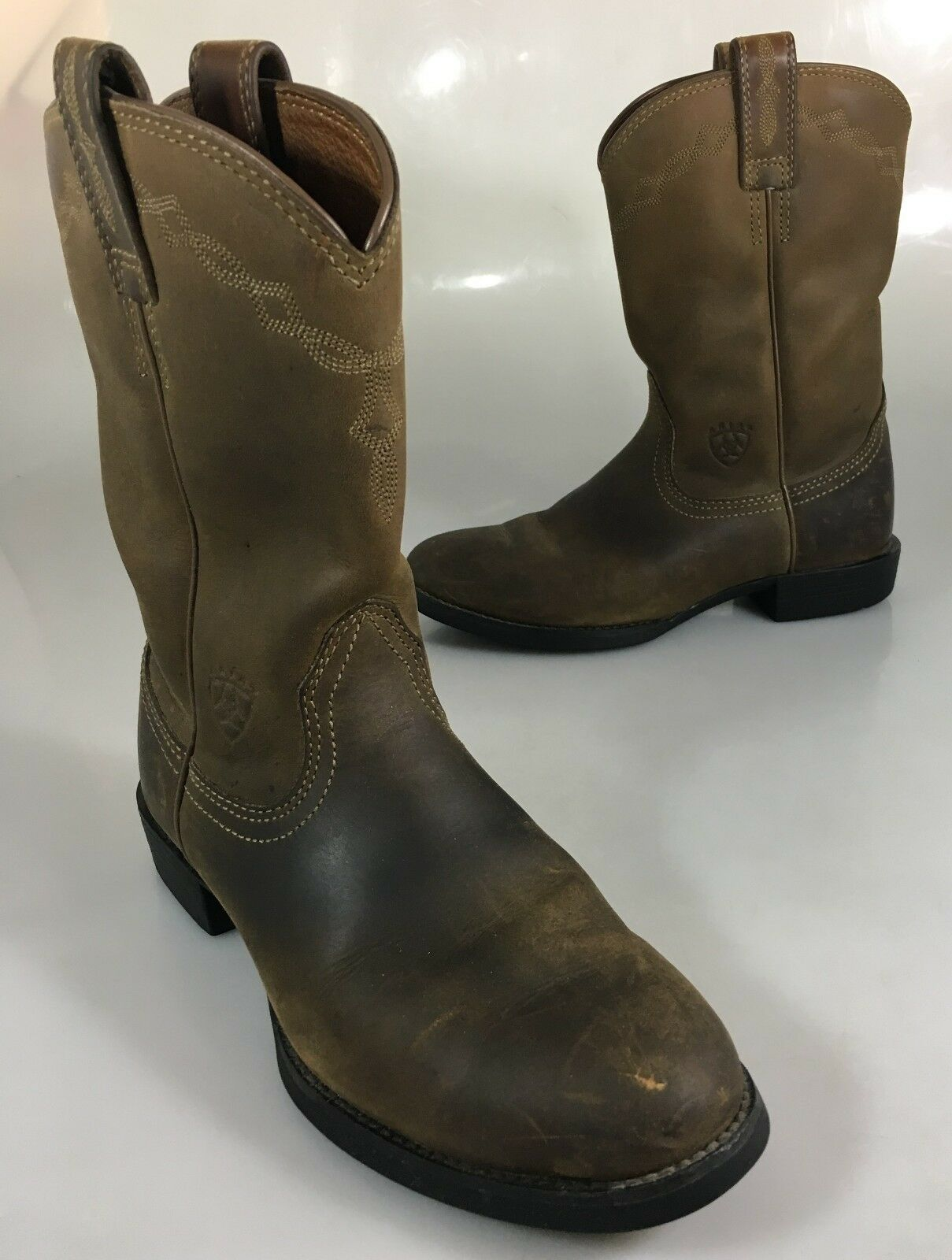 Ariat Damens 6.5B Heritage Roper Braun Leder Lt Distress Cowboy Western Stiefel