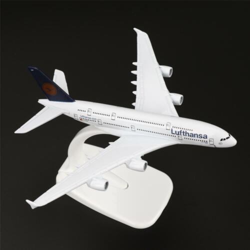 16cm Airbus A380 Air Lufthansa Airplane Model w/Stand Collections Diecast