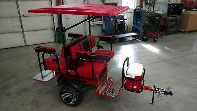 Club Car Ezgo Yamaha Golf Cart Trailer For Pull Behind Tag A Long Ebay