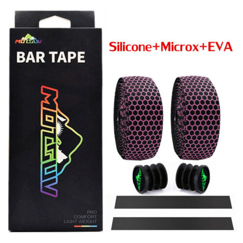 Road Bicycle Bike Cork Handlebar Wrap Bar Tape Bandage Belt Grips Silicone+EVA