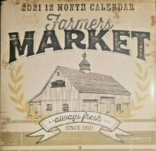 Farmers Market Wall Calendar 2021 Set Of 2 For Sale Online Ebay
