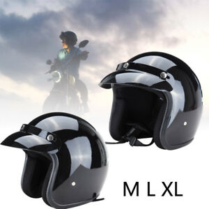 Demi-Jet-Casque-Moto-Motard-Cruiser-Moped-Scooter-Vespa-Homologue-Parasoleil-XL