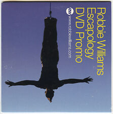 ROBBIE WILLIAMS rare promo-only 2005 advance DVD from Escapology