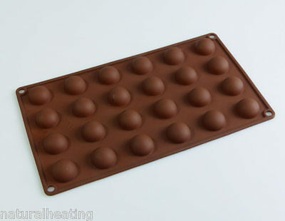 24 SEMI SPHERE Chocolate Truffle Jelly Hemisphere Dome Silicone Mould Mold