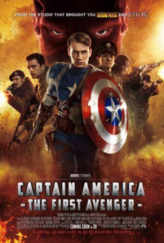 - Chris Evans v3 2011 Captain America The First Avenger Movie Poster 24x36