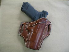 "Springfield XD Mod2, XDM, XD 4""-4.5"" OWB Leather 2 Slot Pancake Belt Holster TAN"