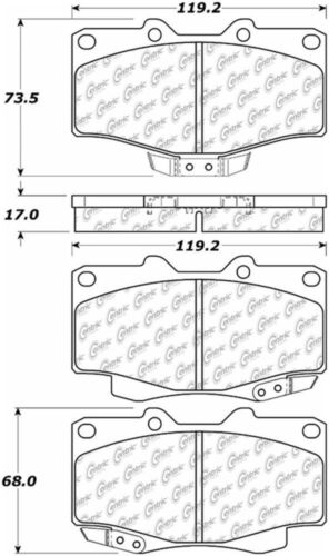 D436 FITS VEHICLES LISTED ON CHART BRAND NEW SEI FRONT BRAKE PADS 100.04360
