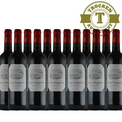 Rotwein Jean Degaves Vin de Bordeaux  - 12x0,75L - VERSANDKOSTENFREI