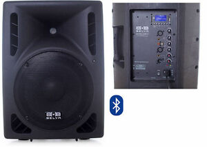 "BELVA BDRS-12BLU 12"" Active Pro/DJ Speaker with Integrated Bluetooth USB/SD/MP3"