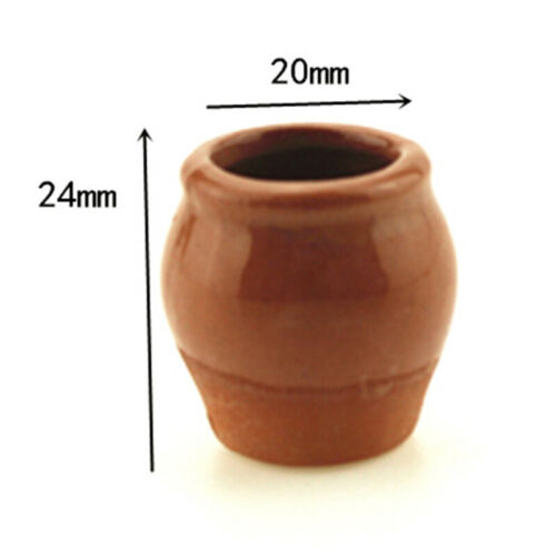1:12 Miniature ceramic flower pot dollhouse diy doll house decor accessoriesWTM