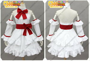 Fairy Tail Wendy Marvell Cosplay Costume White Dress Ebay