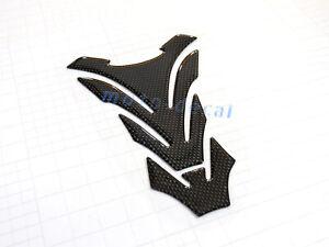 Real Carbon Fiber For Ninja ZX14 ZX10R ZX6R Petrol 3D Pad Fuel Gas Tank Decal